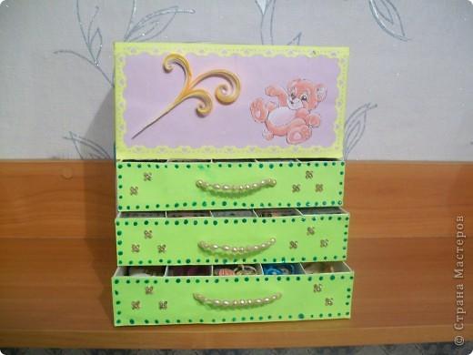 Комодик для вышивки фото 1
