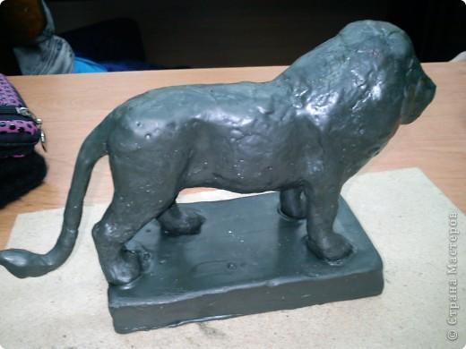 Лев со скульптурного пластилина! фото 3