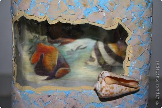 А это мой обратный декупаж с рыбками  фото 3