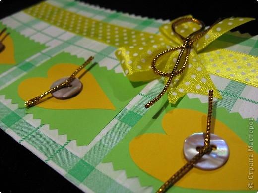 Вот такие нежно-зеленые и желто-солнечные получились у меня открытка и кусудама фото 3
