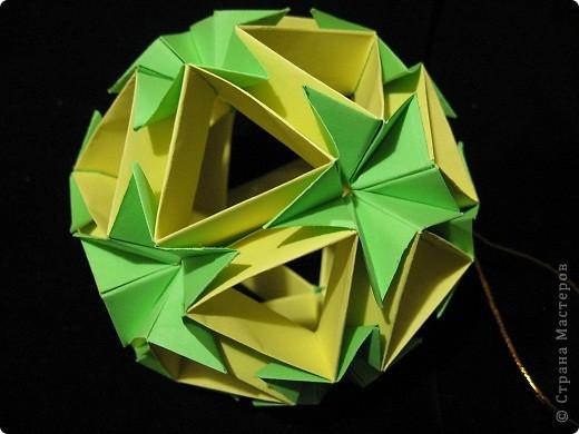Вот такие нежно-зеленые и желто-солнечные получились у меня открытка и кусудама фото 5