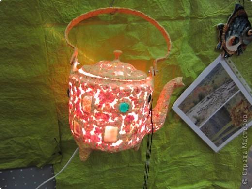Рукотворный светильник из самодельной бумаги. фото 2