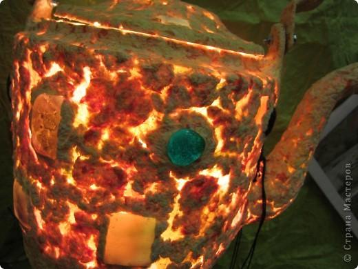 Рукотворный светильник из самодельной бумаги. фото 3