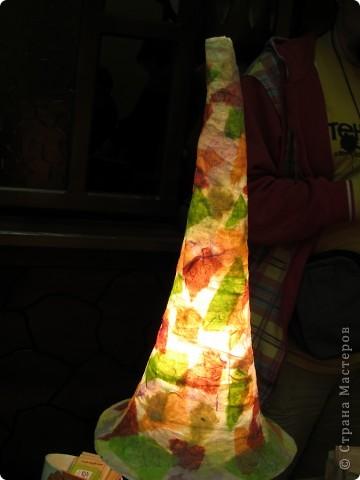 Рукотворный светильник из самодельной бумаги. фото 5