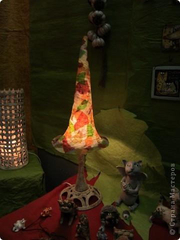 Рукотворный светильник из самодельной бумаги. фото 6
