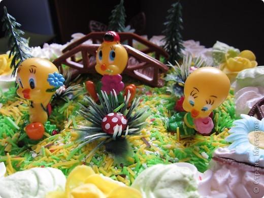 Вот такой тортик (покупной) подарила внучке на 4 года.  фото 3