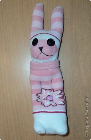 Мои первые зайчата из носков. фото 3
