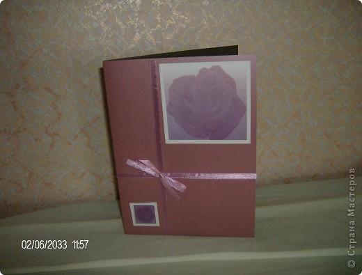 """серия открыток """"розы"""", была куплена бумага для записей с изображением роз и родилась эта серия открыток фото 4"""