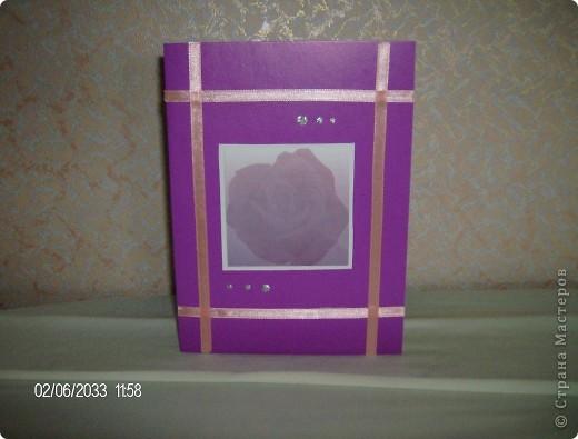 """серия открыток """"розы"""", была куплена бумага для записей с изображением роз и родилась эта серия открыток фото 6"""
