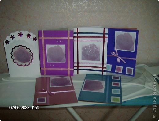 """серия открыток """"розы"""", была куплена бумага для записей с изображением роз и родилась эта серия открыток фото 8"""
