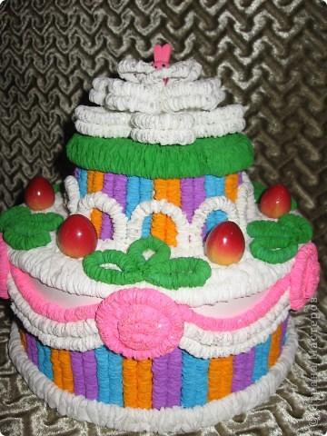 Вот такой торт получился для тренера в подарок. фото 1