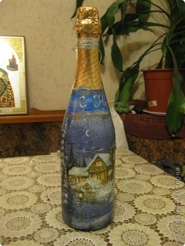 В этом году к новому году по маминой просьбе делала серию праздничных бутылочек - коллегам на работу, преподавателям и т.д. Пару бутылок остались не сфотографированными, к сожалению. Выкладываю, раньше не собралась ((( фото 6