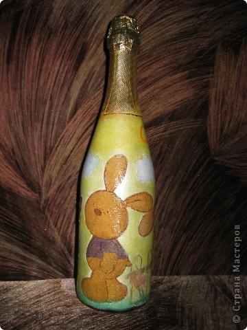 В этом году к новому году по маминой просьбе делала серию праздничных бутылочек - коллегам на работу, преподавателям и т.д. Пару бутылок остались не сфотографированными, к сожалению. Выкладываю, раньше не собралась ((( фото 14