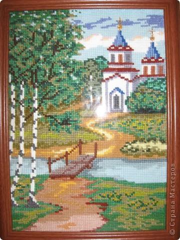 Вышивка. Церкви фото 4