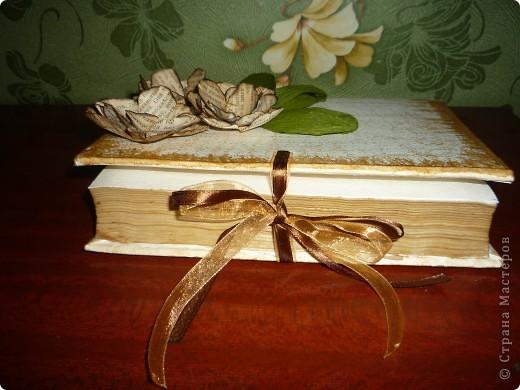 вот такая у меня получилась шкатулка с цветами из этой же книги фото 2