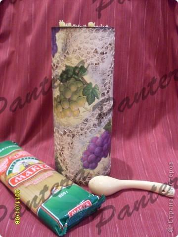 Давно уже напрягают вскрытые пачки с макаронами,которые лежат на полках и занимают место. Вот так и появилась эта баночка :)  фото 6