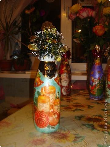 Мои новогодние бутылочки. фото 2