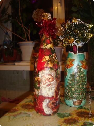 Мои новогодние бутылочки. фото 3