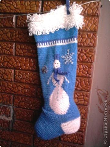 Этот синий сапожок я связала для своего сына Никиты фото 1