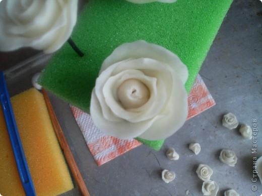 Эта роза из простого фарфора  Лепила вчера , сегодня уже сутки не трескает и становится прозрачный фото 20