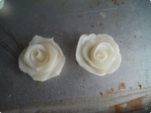 Эта роза из простого фарфора  Лепила вчера , сегодня уже сутки не трескает и становится прозрачный фото 21