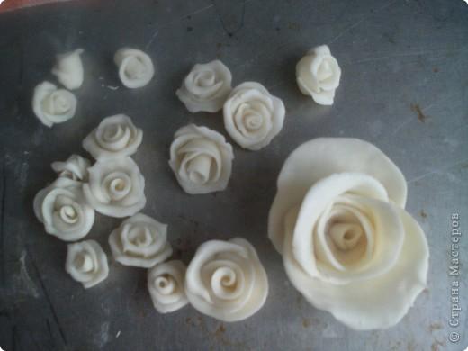 Эта роза из простого фарфора  Лепила вчера , сегодня уже сутки не трескает и становится прозрачный фото 22