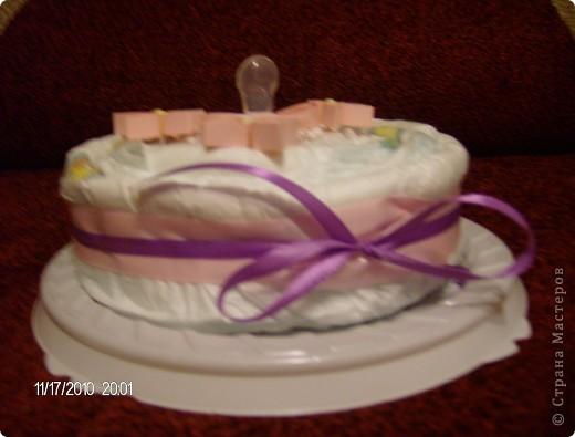 торт из памперсов для маленькой принцессы фото 2