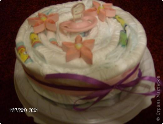 торт из памперсов для маленькой принцессы фото 1