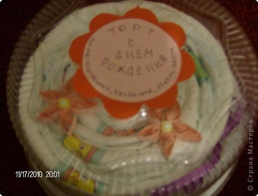 торт из памперсов для маленькой принцессы фото 3