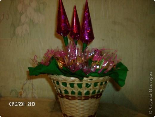 мой первый букет из конфет. фото 1