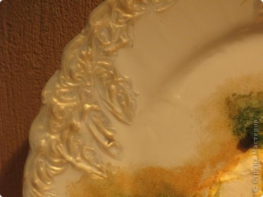Обратный декупаж: салфетка, поталь (травление), акриловые краски, лак. фото 5