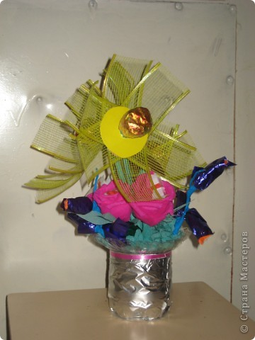 Первый букет из конфет ЗАГАДКА фото 2