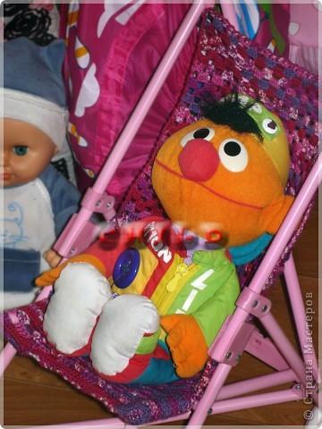 Новая сидушка в кукольную коляску, вместо порванной) фото 2