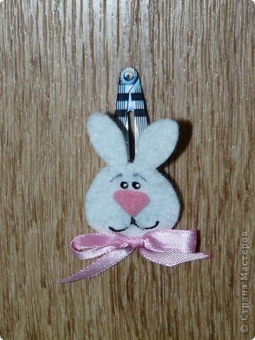 Кролик и киска из фетра, бантики - атласные ленты (ширина 0,5 см.) + контуры для ткани. фото 4