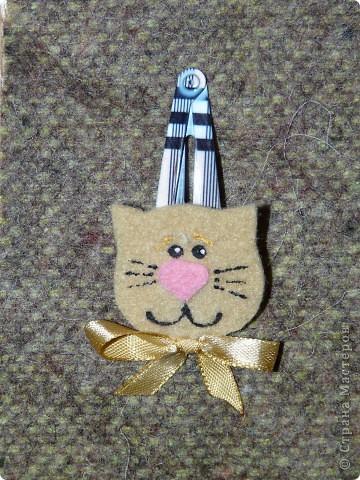 Кролик и киска из фетра, бантики - атласные ленты (ширина 0,5 см.) + контуры для ткани. фото 5