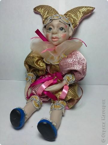 Куколка вылеплена из цернита. Высота 21 см стоя.  фото 1