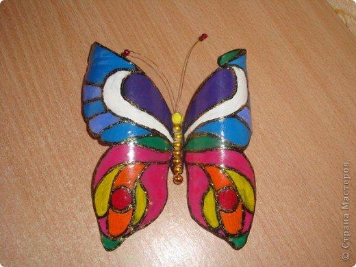 Бабочки из пластиковой бутылки фото 1