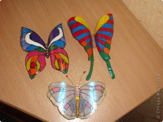 Бабочки из пластиковой бутылки фото 2