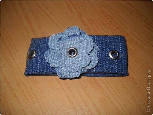 Украшения из джинсовой ткани фото 2