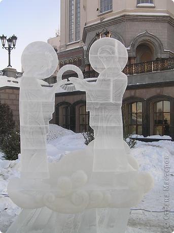Храм на крови. Ледяные скульптуры. Тоже ручная работа фото 10