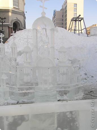 Храм на крови. Ледяные скульптуры. Тоже ручная работа фото 15