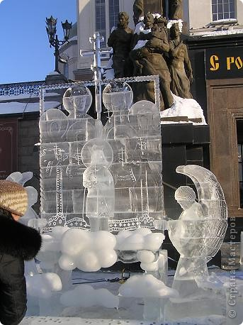 Храм на крови. Ледяные скульптуры. Тоже ручная работа фото 2