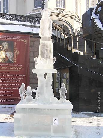 Храм на крови. Ледяные скульптуры. Тоже ручная работа фото 4