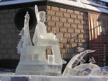 Храм на крови. Ледяные скульптуры. Тоже ручная работа фото 5