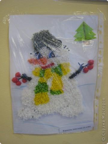 Наш Снеговик, дочка назвала Сладкоежка. фото 1