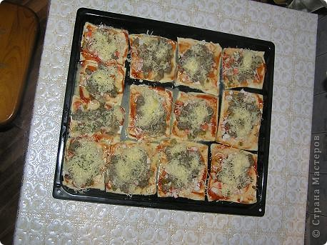Пицца из слоеного теста фото 1