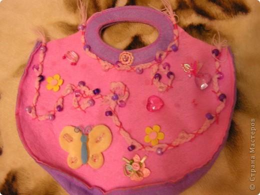 Отделка детской сумочки