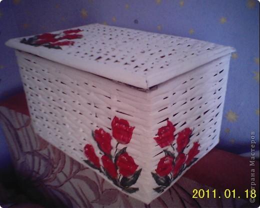 У меня теперь тоже есть плетеная коробочка! Огромное спасибо Физалии за ее МК и помощь!Увидев ее работы невозможно не захотеть такие же шкатулочки! фото 2
