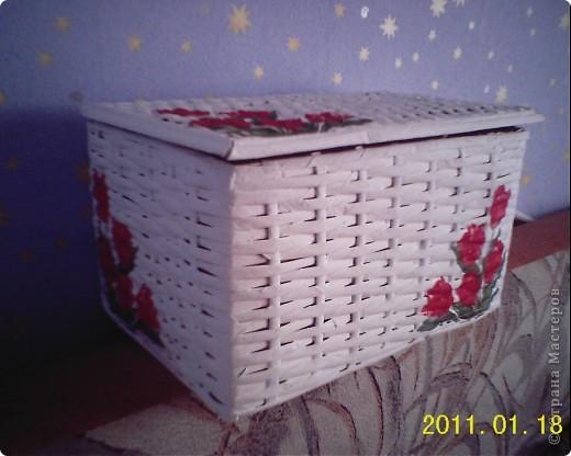 У меня теперь тоже есть плетеная коробочка! Огромное спасибо Физалии за ее МК и помощь!Увидев ее работы невозможно не захотеть такие же шкатулочки! фото 3