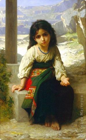 """фотомонтаж картины """"Девочка и горы"""". фото 2"""
